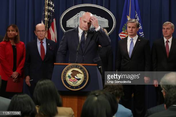 First Assistant US Attorney Annette Hayes of the Western District of Washington Commerce Secretary Wilbur Ross acting Attorney General Matthew...