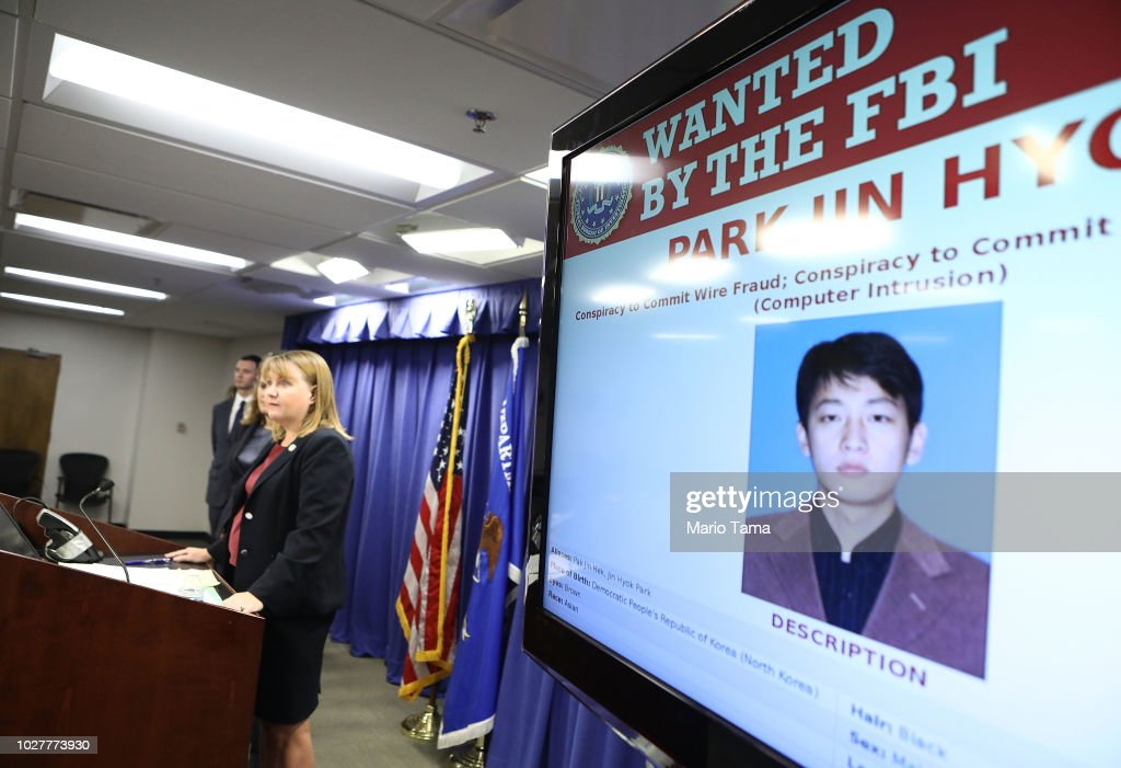 Justice Department Announces Charges North Korea Operative With 2014 Sony Pictures Hack : News Photo