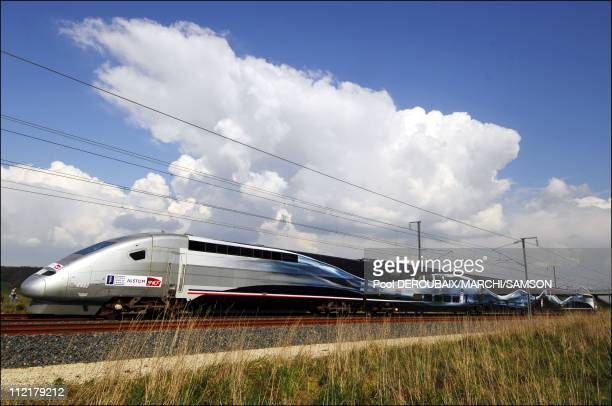First attempt to break the rail speed world record by the French high speed train on March 282007