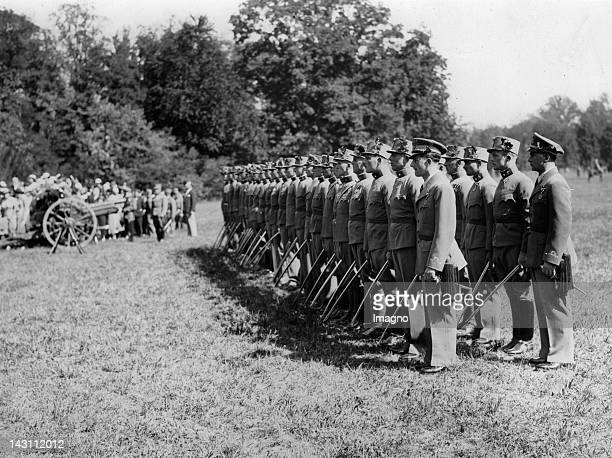 First Austrian pilot officers Theresian Military Academy Wiener Neustadt Austria Photograph About 1935