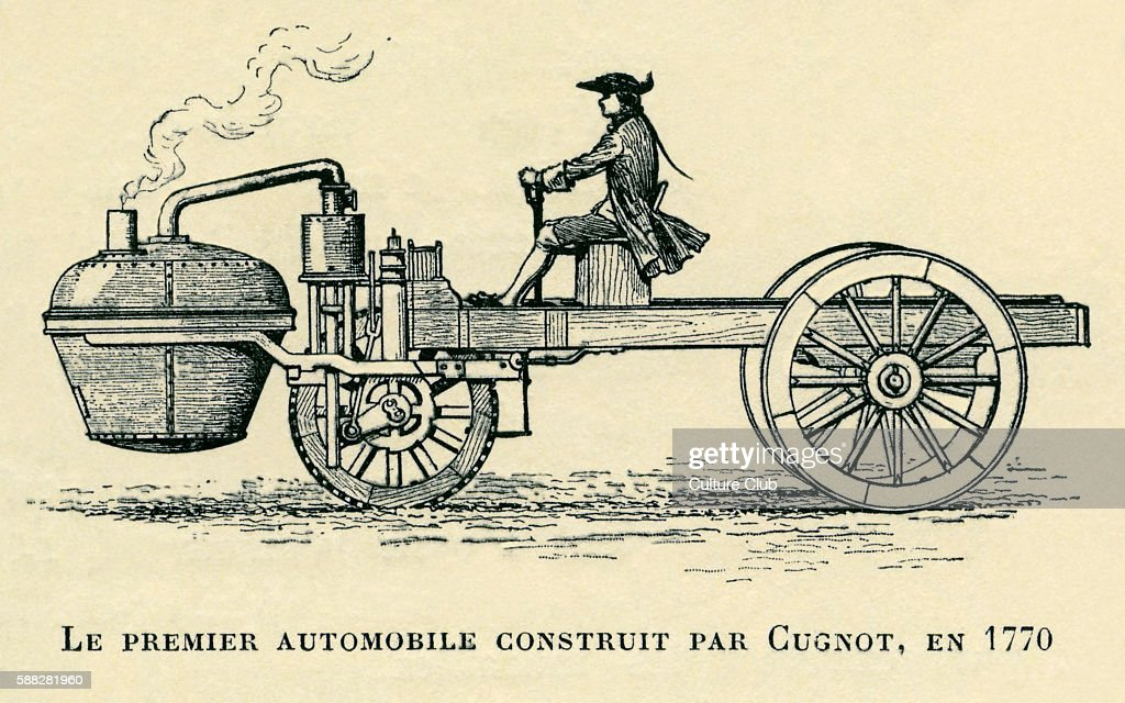 First automobile contructed by Cugnot in Pictures | Getty Images