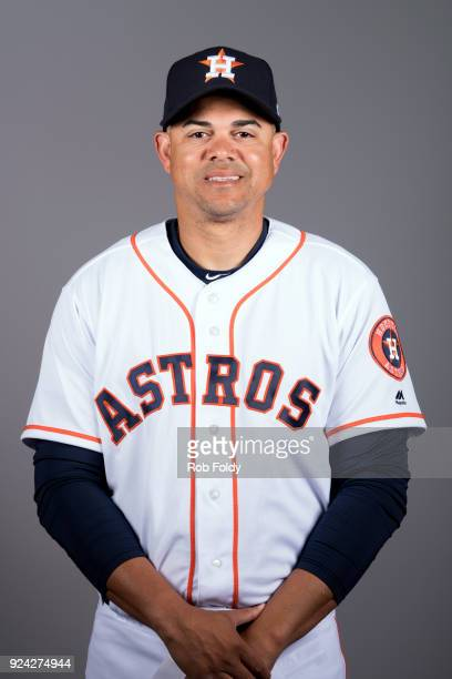 First base coach Alex Cintron of the Houston Astros poses during Photo Day on Wednesday February 21 2018 at the Ballpark of the Palm Beaches in West...