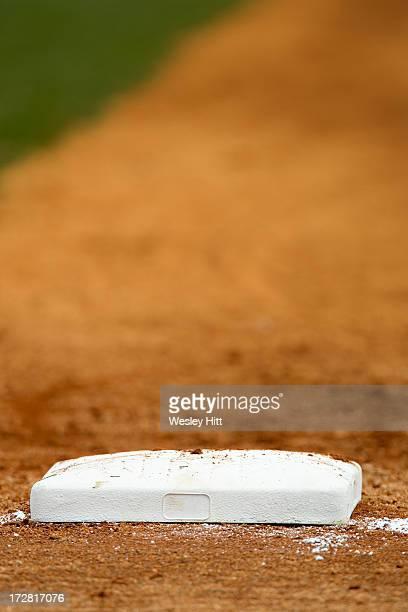 First base on a baseball field