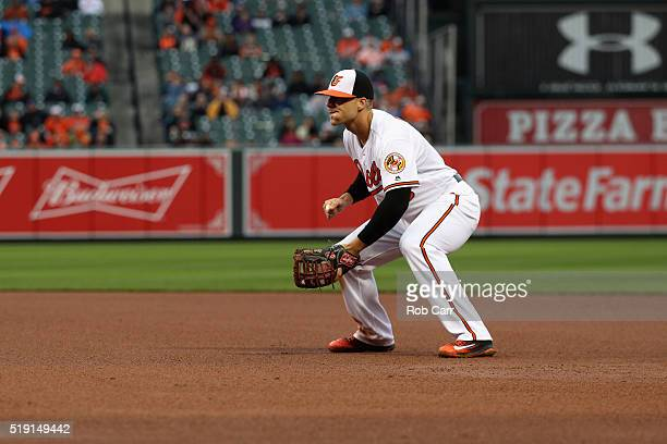 First baseman Chris Davis of the Baltimore Orioles follows the pitch against the Minnesota Twins in the fourth inning of their Opening Day game at...