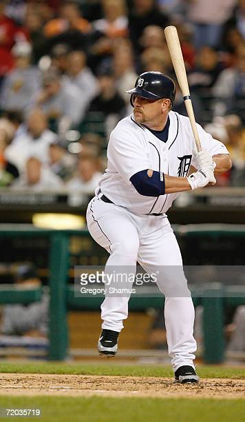 First baseman Matt Stairs of the Detroit Tigers at bat against the Toronto Blue Jays on September 26 2006 at Comerica Park in Detroit Michigan