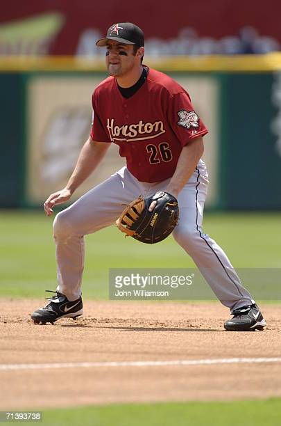 First baseman Mike Lamb of the Houston Astros fields his position during the game against the Texas Rangers at Ameriquest Field in Arlington on July...