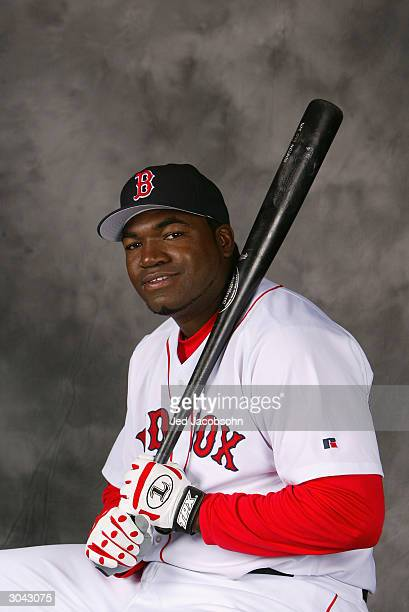 First baseman/designated hitter David Ortiz of the Boston Red Sox poses for a portrait during Photo Day at their spring training facility on February...