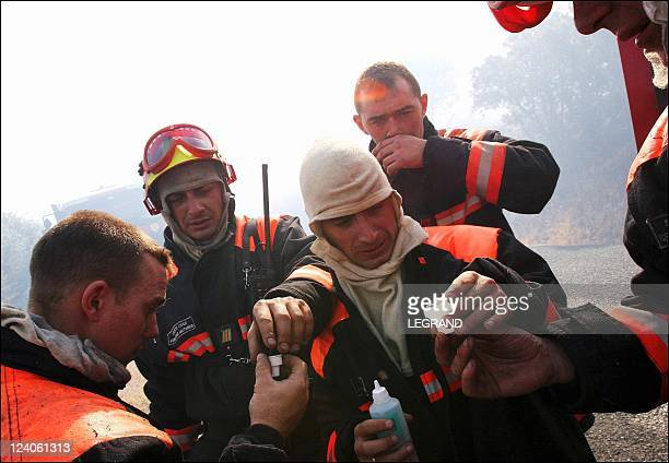First big fires in Corsica La Balagne France under the flames for 24h On July 01 2005 Several villages evacuated as firefighters struggle...