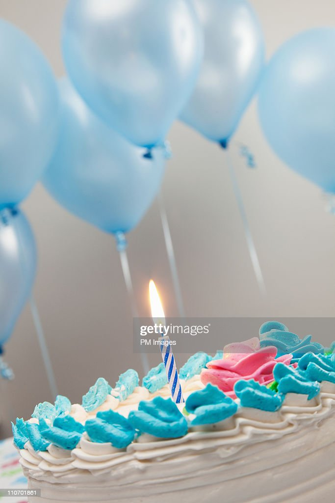 First Birthday Cake : Stock Photo