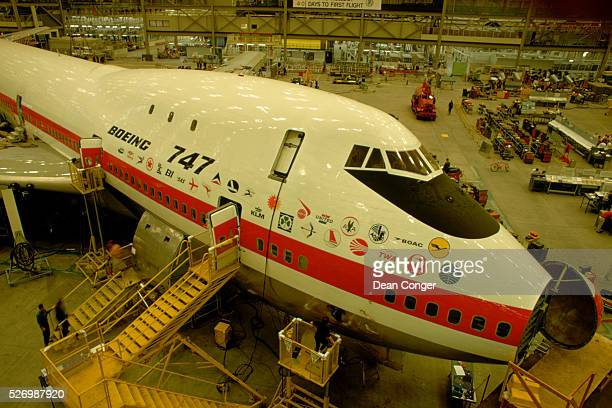 First Boeing 747 Under Construction Seattle