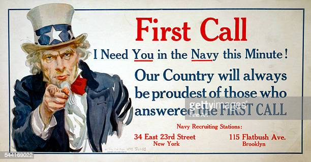 First call I need you in the Navy this minute Our country will always be proudest of those who answered the first call Poster circa 1917 28 x 515 cm
