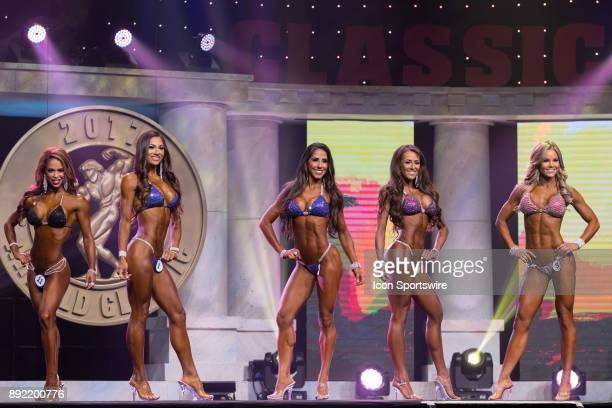 First callouts India Paulino Janet Layug Angelica Teixeira Courtney King and Justine Munro Bianca Berry for the finals of Bikini International as...