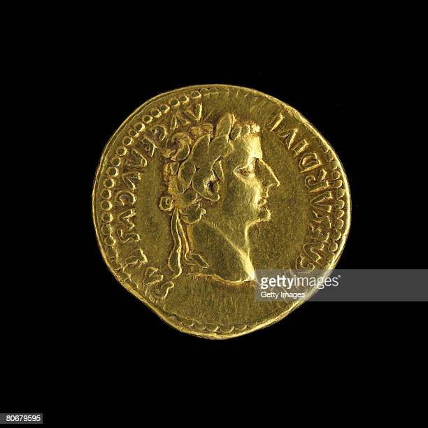 A first century round gold coin measuring 19cm from a tomb in Tillia Tepe Afghanistan provided by The Afghanistan National Museum is pictured at the...
