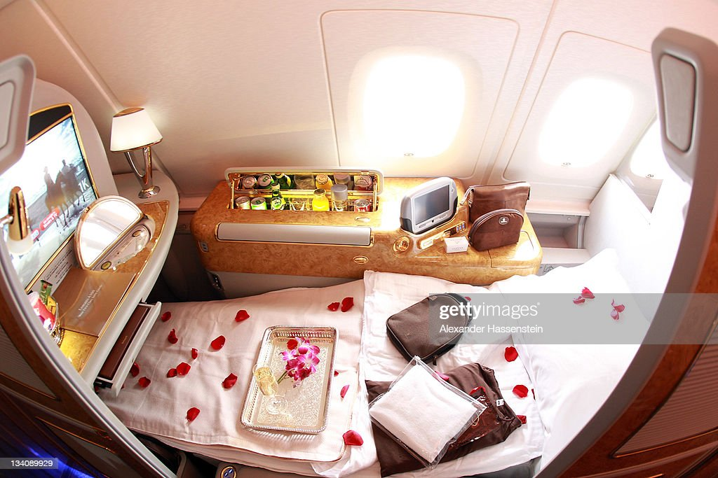 First Class Seat Of Emirates Airbus A380 Registration A6 Edp At