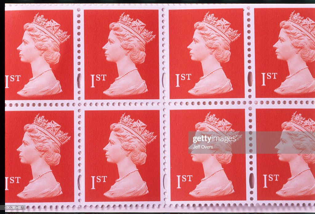First Class Stamps, Red, Queens Head  News Photo - Getty Images