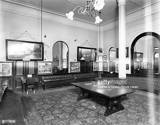 First Class Waiting Room at Paddington station London c 1910 Official Great Western Railway photograph