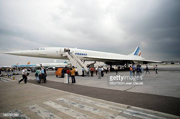 First Commercial Flight Of Concorde Parisdakarrio De Janeiro Paris 21 janvier 1976 Aéroport ParisCharlesdeGaulle Air France commercialise le...