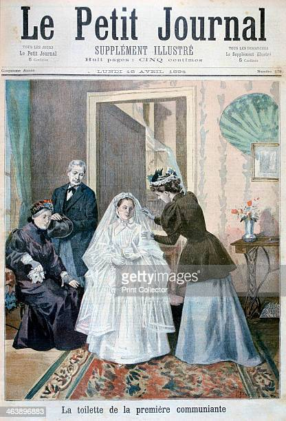 First communicant 1894 An illustration from Le Petit Journal 16th April 1894