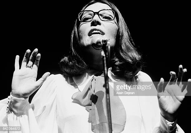 First concert of Nana Mouskouri at the Paris Olympia Hall.