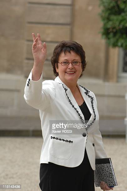 First council of ministers in the new government of Nicolas Sarkozy in Paris France on May 18 2007 Christine Boutin minister of House and City