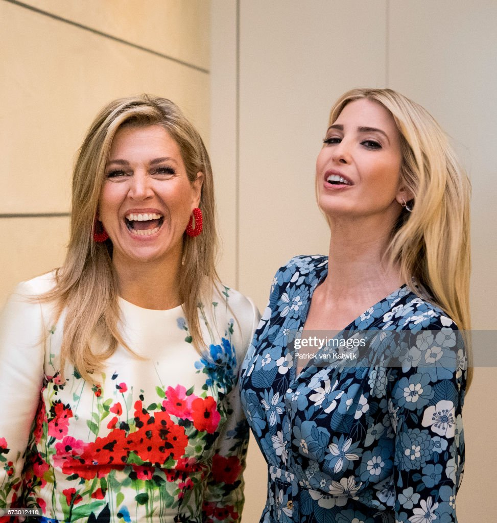 First Daughter and Advisor to the US President Ivanka Trump and Queen Maxima of The Netherlands attend the W20 conference on April 25, 2017 in Berlin, Germany. The conference, part of a series of events in connection with Germany's leadership of the G20 group of nations this year, focuses on women's empowerment, especially through entrepreneurship and the digital economy.