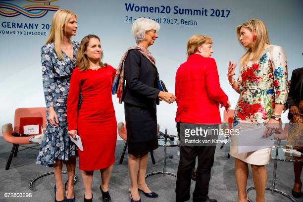 First Daughter and Advisor to the US President Ivanka Trump Canadian Minister of Foreign Affairs Chrystia Freeland Christine Lagarde of the...