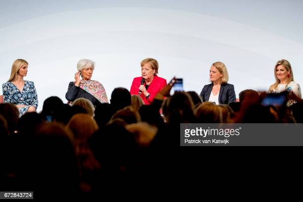 First Daughter and Advisor to the US President Ivanka Trump Christine Lagarde of the International Monetary Fund German Chancellor Angela Merkel...