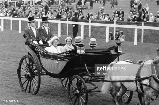 First Day at Royal Ascot, Tuesday 14th June 2019; pictured: The Queen Mother and Princess Margaret.
