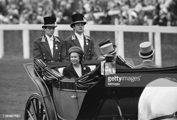 First Day at Royal Ascot Tuesday 14th June 2019 pictured The Queen arrives in Royal Carriage
