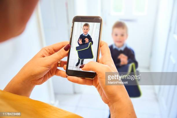 first day at school picture - shoulder bag stock pictures, royalty-free photos & images