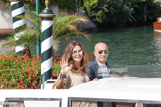 First day at the Venice Cinema Festival 2014 in the photo Daniela Santanche and Alessandro Sallusti