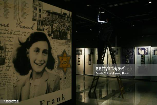 First day of 'Anne Frank A History for Today A Photographic Diary' photographic exhibition presented by the Jewish Community Centre of Hong Kong at...