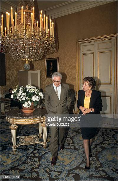 First Day Of Edith Cresson At Matignon Palace On May 16th 1991 In Paris France Edith Cresson With Lionel Jospin