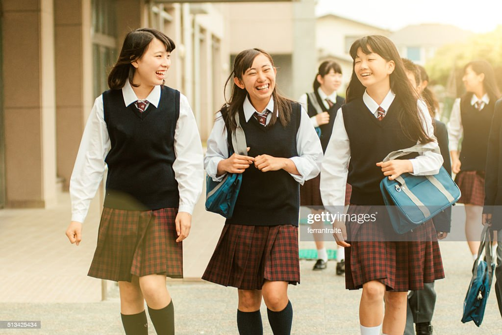 First day of school in Japan : Stock Photo