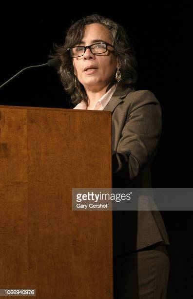 First Deputy Commissioner of the New York City Department of Health and Mental Hygiene DrOxiris Barbot speaks on stage during World AIDS Day at...