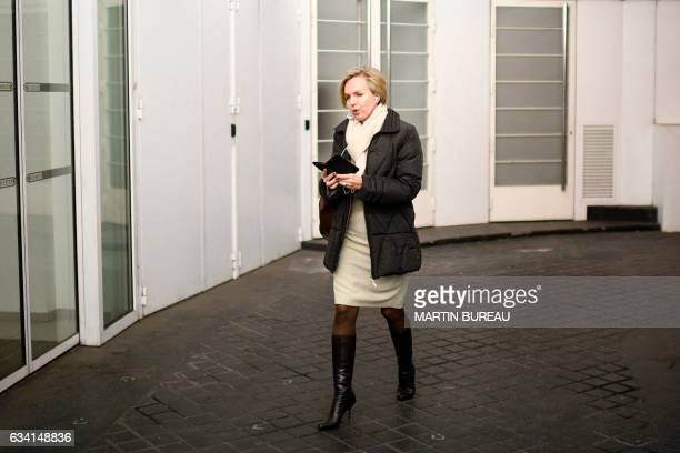 First Deputy Mayor of Bordeaux Virginie Calmels arrives for a political committee of the French right wing party LR at the party headquarters in...