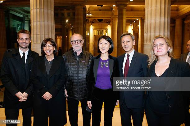 First Deputy Mayor of Paris responsible for culture Bruno Julliard Mayor of Paris Anne Hidalgo Artist Paul McCarthy French minister of Culture and...