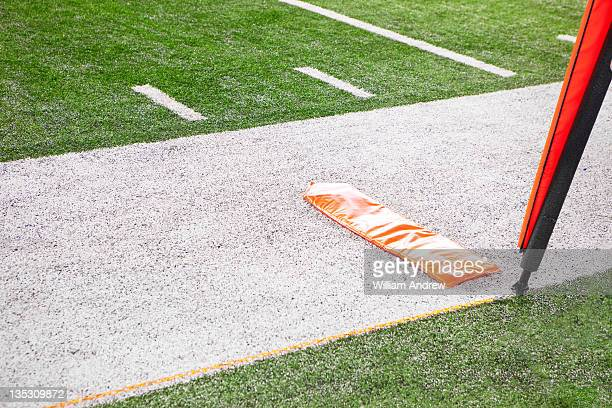 First down marker on American football field