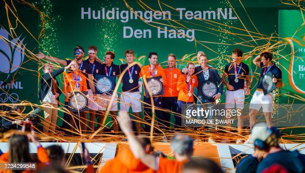 First Dutch Olympic medalists celebrate at the TeamNL Olympic Festival in Scheveningen, on July 29, 2021. - - Netherlands OUT / Netherlands OUT