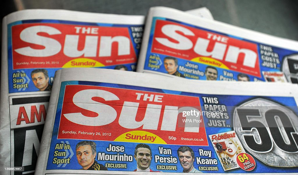First editions of 'The Sun On Sunday' newspapers are displayed after coming off the presses on February 25, 2012 in Broxbourne, England. Around 3 million copies of 'The Sun On Sunday', the first ever Sunday edition of News International's daily tabloid newspaper 'The Sun', are due to go on sale on Sunday February 26, 2012. News Corporation CEO Rupert Murdoch, who has flown into the UK to oversee the launch, said he would be 'very happy' if sales of his new paper exceed two million copies and enjoyed similar success to the 'News Of The World', its defunct predecessor.