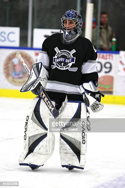 First female NHL player Manon Rheaume attends Luc Robitaille's Celebrity Shootout held at Park City Ice Arena during the 2009 Sundance Film Festival...