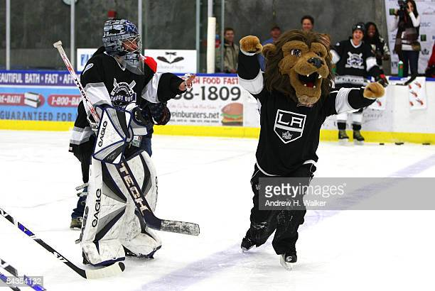 First female to play in any major sports league Manon Rheaume attends Luc Robitaille's Celebrity Shootout held at Park City Ice Arena during the 2009...