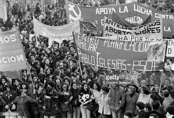 First feminist demonstration in Spain after the restoration of democracy | Location Madrid Spain
