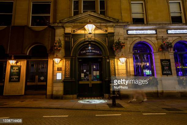 First Friday night of early pub closures due to the government hospitality curfew in Northampton England on 25th September 2020