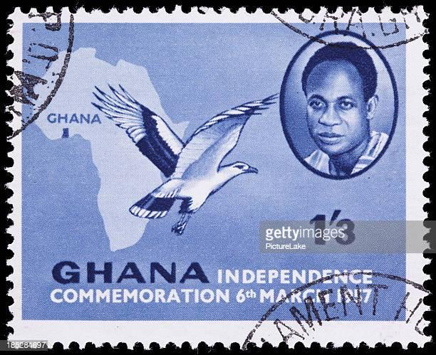 first ghana postage stamp - kwame nkrumah stockfoto's en -beelden