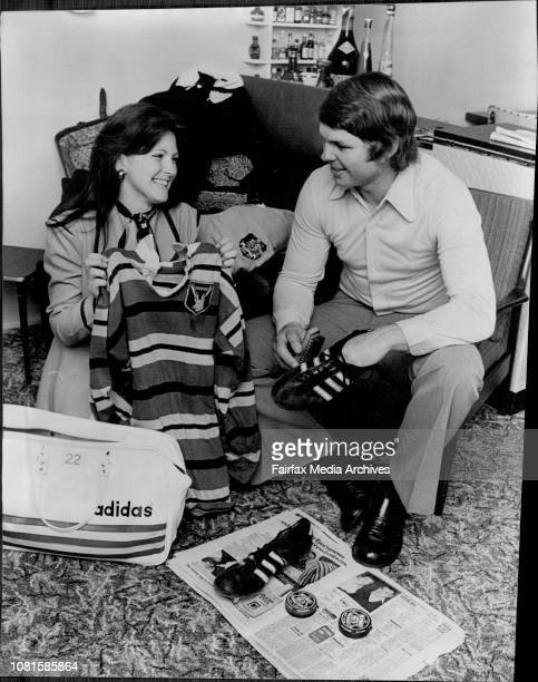 First grade breakway far Gordon, Peter Sullivan, unpacks his gear after touring with the Wallabies in New Zealand and sets about cleaning his boots...