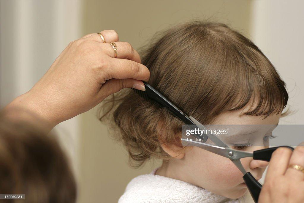 First Haircut : Stock Photo