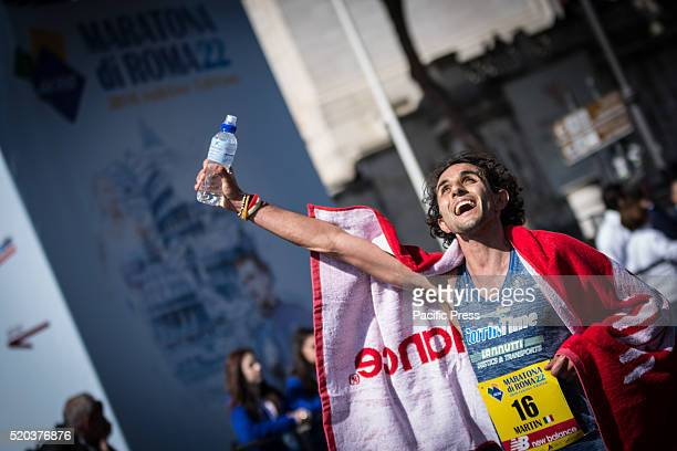 First Italian at the finish newcomer Martin Dematteis during Rome Marathon 2016 The winners of the marathon in Rome 2016 Kenyan Amos Kipruto was the...