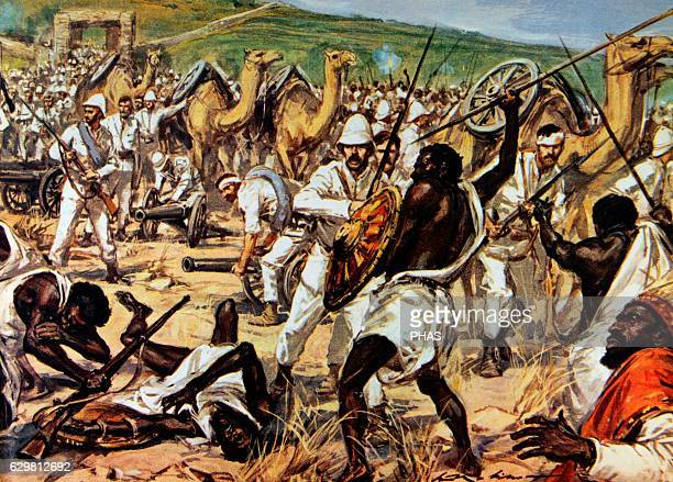 First ItaloEthiopian War Conflict between Italy and Ethiopia 18951896 The army of Ras Makonnen fighting Italian troops during the siege of Mekele...