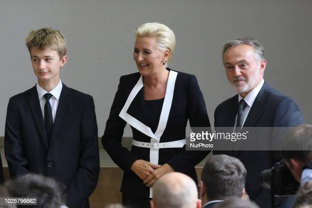 First Lady Agata Kornhauser-Duda is seen in Gdynia, Poland on 1 September 2018 Presient and First Lady take part in the start of the school year...